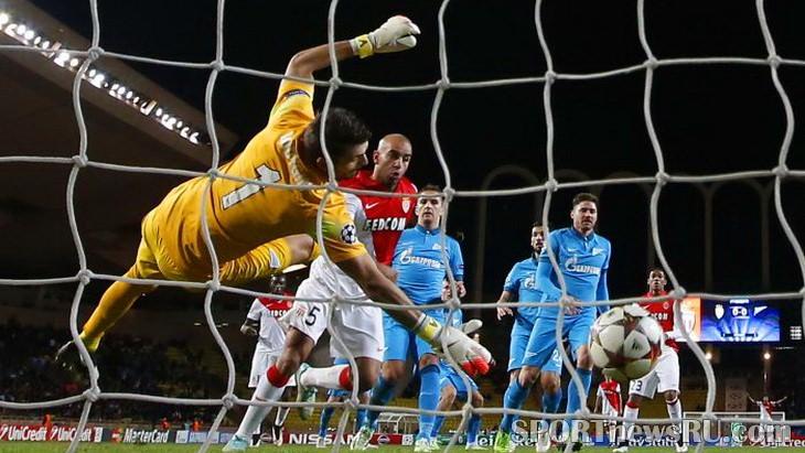 лига чемпионов 2014 2015 футбол монако зенит