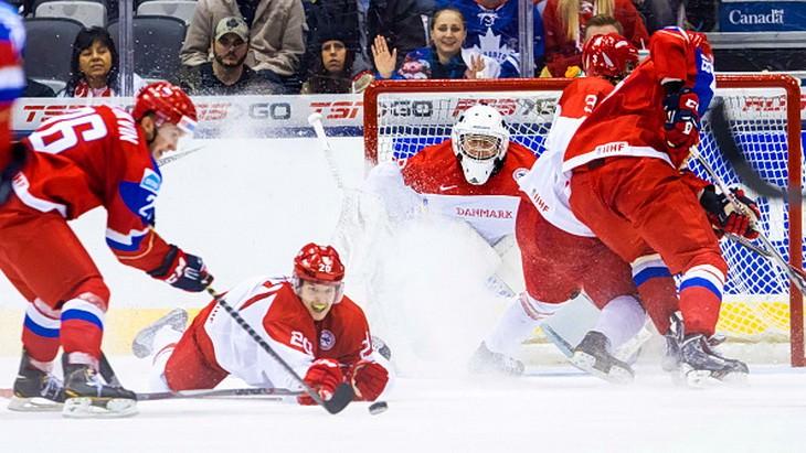 россия дания чемпионат мира по хоккею 2015 молодежка