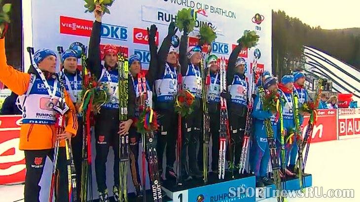 пятый этап кубка мира по биатлону мужчины эстафета