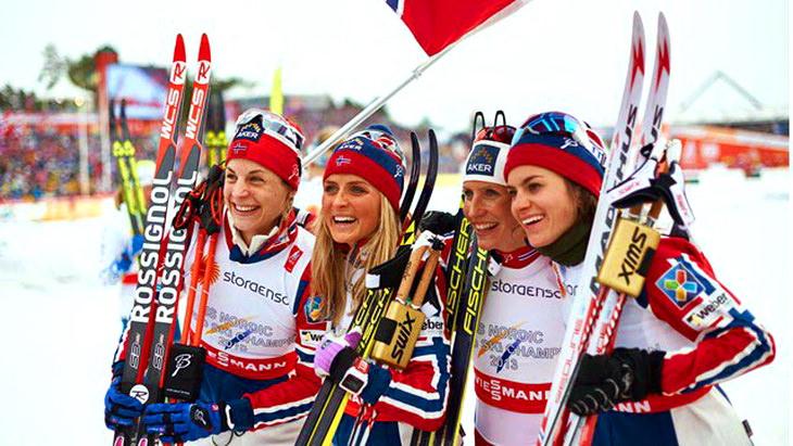 чм по лыжным гонкам сборная норвегии