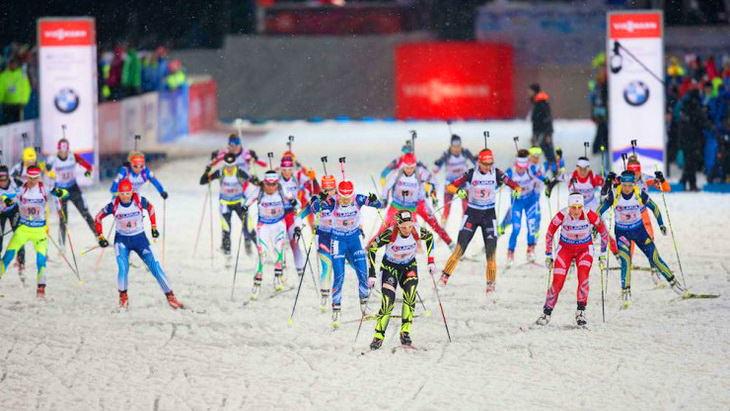 чемпионат мира по биатлону смешанная эстафета