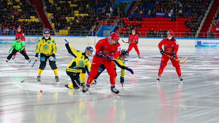 матч казахстан – россия чемпионат мира по бенди 2015 хоккей с мячом