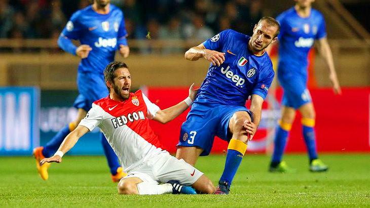 матч монако - ювентус футбол 1/4 финала лиги чемпионов 2015
