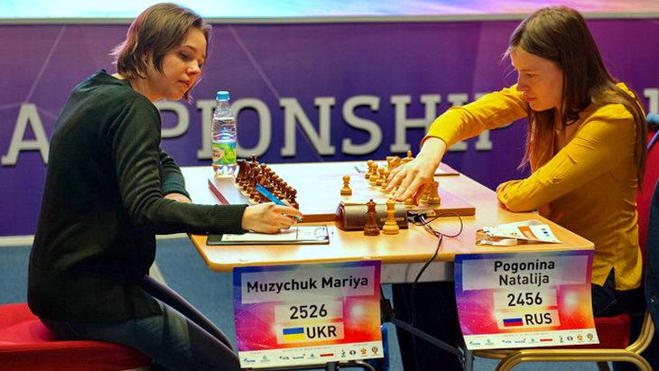 мария музычук - наталья погонина женский чм по шахматам
