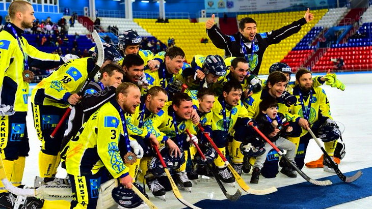 сборная казахстана матч казахстан – финляндия чм по хоккею с мячом-2015