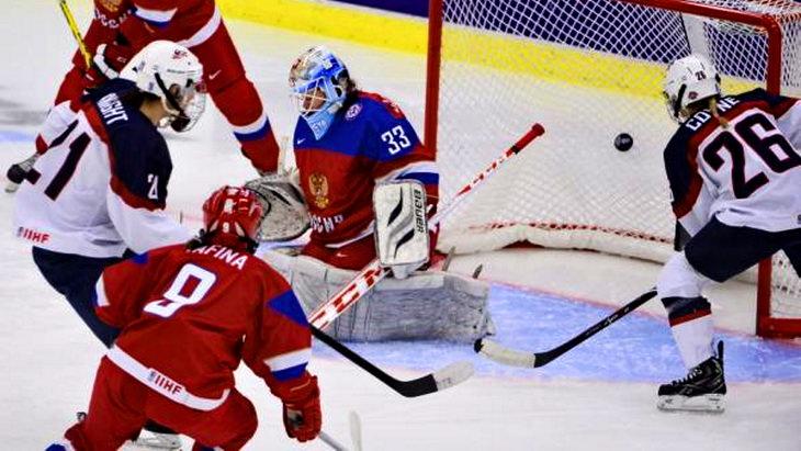 матч сша - россия чм по хоккею среди женщин 2015