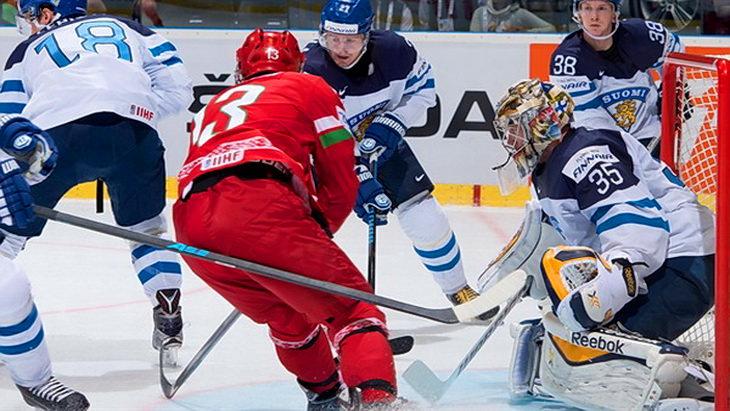 матч финляндия - беларусь чм по хоккею 2015