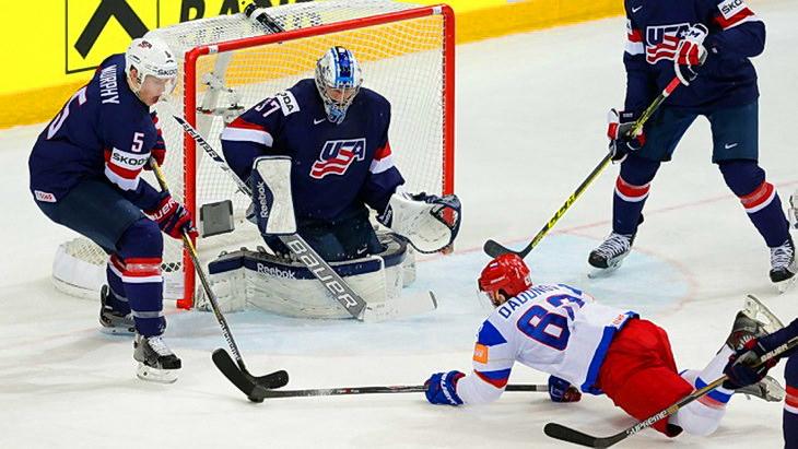 матч сша - россия хоккей чм 2015