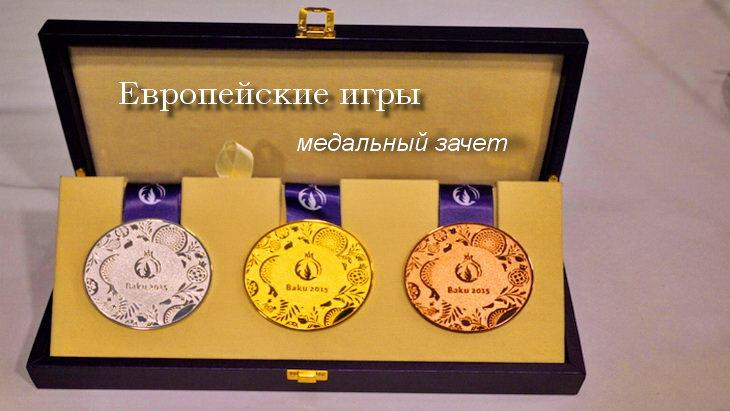 европейские игры медальный зачет