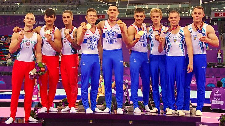 первые европейские игры спортивная гимнастика