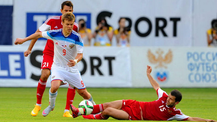 россия белоруссия футбол товарищеский матч