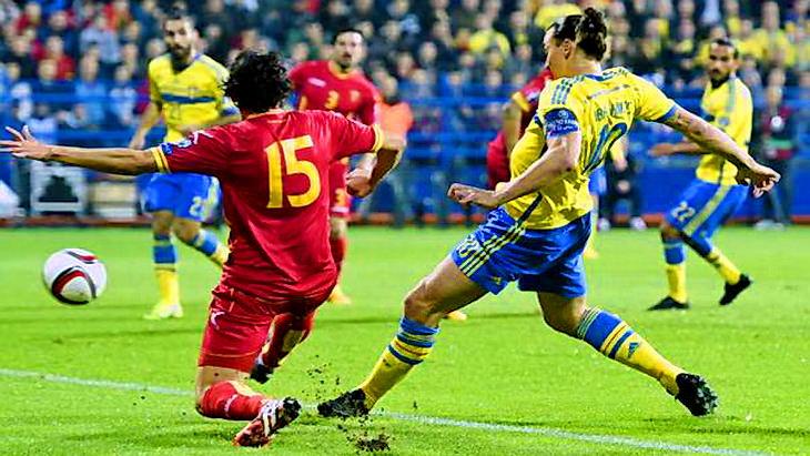 швеция – черногория футбол отборочный матч евро 2016